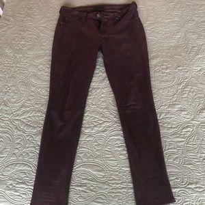 Purple snakeskin Free People jeans